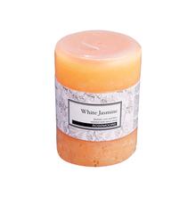 Rosemoore Jasmine Scented Pillar Candle, White