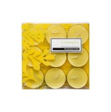 Rosemoore Lemongrass Scented Tea Lights, Yellow