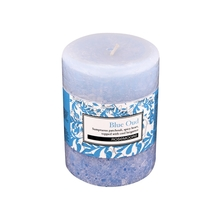 Rosemoore Oud Scented Pillar Candle, Blue