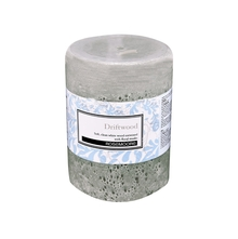 Rosemoore Driftwood Scented Pillar Candle, White
