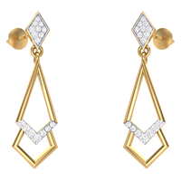 EARRING (LJER0072), 14k, hi-vs/si