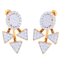 EARRING (LJER0426), 14k, hi-vs/si