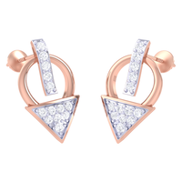 EARRING (LJER0388), 14k, hi-vs/si