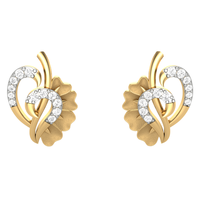 EARRING (LJER0059), 14k, hi-vs/si