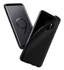 SPIGEN GALAXY S9 BACK CASE LIQUID CRYSTAL MATTE,  black