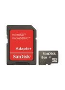 SANDISK MICROSD 8GB MEMORY CARD+ ADAPTER