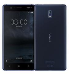 NOKIA 3 16GB DUAL SIM,  tempered blue