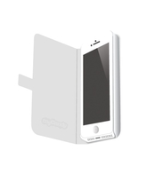 MYCANDY SLIM FIT FLIP TYPE CASE PU LEATHER FOR IPHONE 5 HON,  white