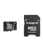 INTEGRAL MICRO SD CARD C10 16GB WITH USB3.0 CARD READER