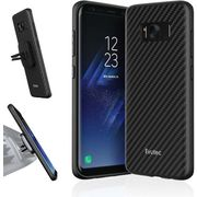 EVUTEC GALAXY S8 BACK CASE,  black