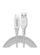 SWITCH ULTRA RUGGED USB A TO TYPE C CHARGE & SYNC 1.2M CABLE WHITE