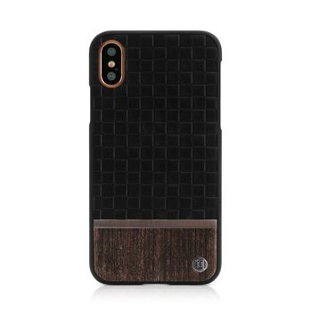 UUNIQUE IPHONE X BACK CASE REAR HARD SHELL GREY ASH,  black