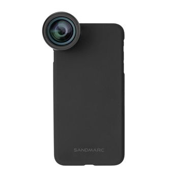 SANDMARC IPHONE 8 PLUS WIDE LENS WITH VERSATILE MOUNTING SYSTEM,  black