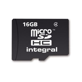 INTEGRAL 16GB MICRO SD IN RETAIL PACKING