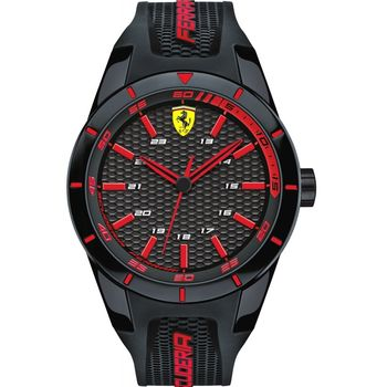 FERRARI WATCH 830245 REDREV ANALOG DISPLAY QUARTZ BLACK