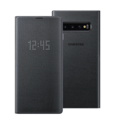 SAMSUNG GALAXY S10 BACK CASE LED COVER BLACK,  white