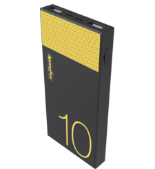 MYCANDY 10, 000 mAh Powerbank PB18,  black