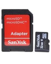 SANDISK MICROSD 32GB MEMORY CARD+ ADAPTER