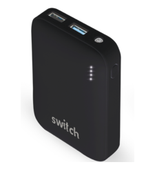 SWITCH POWER BANK 10K MAH POWERPACK LIGHT,  black