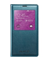 SAMSUNG GALAXY S5 S VIEW COVER,  green