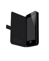 MYCANDY SLIM FIT FLIP TYPE CASE PU LEATHER FOR IPHONE 5 HON,  black