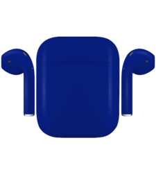 APPLE AIRPODS PAINTED SPECIAL EDITION,  cobalt, matte