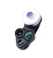 SHIFTCAM 3 IN 1 LENS CLIP WITH LED SELFIE MIRROR REVOLCAM,  black