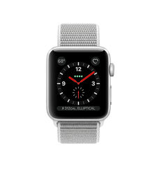 APPLE SMARTWATCH SERIES 3 42MM MQKQ2 SILVER ALUMINIUM CASE WITH SEASHELL SPORT LOOP - CELLULAR