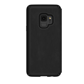 SPECK PRESIDO FOLIO LEATHER GALAXY S9 BACK CASE,  black