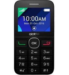 ALCATEL 2008D 2G DUAL SIM,  black