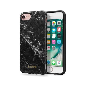 LAUT IPHONE 7 / IPHONE 8 BACK CASE HUEX ELEMENTS MARBLE BLACK