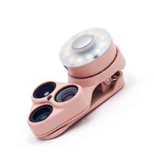 SHIFTCAM 3 IN 1 LENS CLIP WITH LED SELFIE MIRROR REVOLCAM,  pink