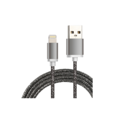 NUSHH LIGHTNING CABLE BRAIDED 1 M,  dark grey