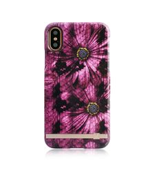 UUNIQUE IPHONE X BACK CASE PURPLE ASTER SNAKE,  purple