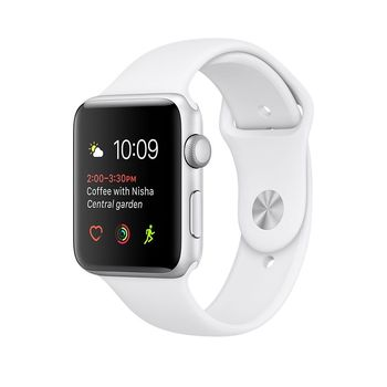 APPLE WATCH SERIES 2 38MM SMARTWATCH (SILVER ALUMINUM CASE, WHITE SPORT BAND) MNNW2