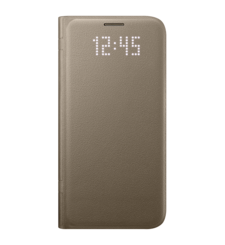 SAMSUNG GALAXY S7 LED VIEW COVER GOLD,  black