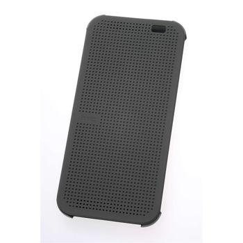 HTC ONE M8 DOT FLIP CASE,  grey