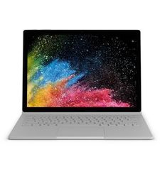 MICROSOFT SURFACE BOOK 2 2017 - INTEL CORE I7-8650U, 16GB, 256GB SSD, 6GB GRAPHICS, 15-INCH TOUCH HNS-00001 - English,  silver