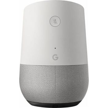 GOOGLE HOME MINI WIRELESS VOICE ACTIVATED SPEAKER WHITE/SLATE FABRIC