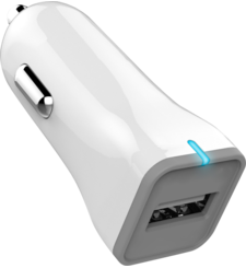 MYCANDY QC2 SINGLE USB FAST CAR CHARGER CU02 2A,  white