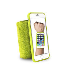 "PURO IPHONE 6 4.7"" RUNNING WRISTBAND with key pocket,  green"