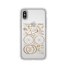 SPECK IPHONE X BACK CASE PRESIDO CLEAR PLUS PRINT,  gold yellow