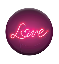 POPSOCKETS MOBILE STAND SINGLE,  love sign