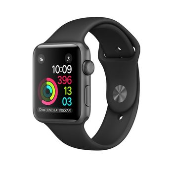 APPLE WATCH SERIES 1 38MM SMARTWATCH (SPACE GREY ALUMINUM CASE, BLACK SPORT BAND) MP022