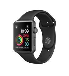 APPLE WATCH SERIES 1 42MM SMARTWATCH (SPACE GREY ALUMINUM CASE, BLACK SPORT BAND) MP032