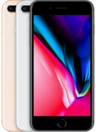 APPLE IPHONE 8 PLUS,  silver, 64gb