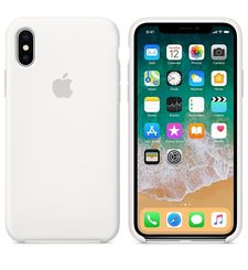 APPLE IPHONE X SILICONE BACK CASE,  white