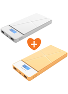 MYCANDY POWER BANK 8000MAH PB05 - COMBO DEAL - WHITE+ YELLOW