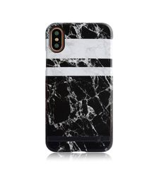 UUNIQUE IPHONE X BACK CASE MONOCHROME MARBLE,  black