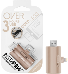 INSTAPOW CORDLESS LIGHTNING POWERBANK 700MAH,  rose gold